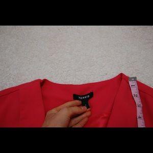 b6b1ade0515 torrid Jackets   Coats - Torrid Solid Pink 1 2 Sleeve Blazer Plus size 2X